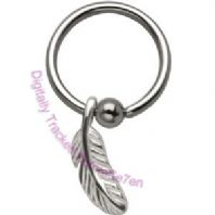Large Feather Ball closure Ring